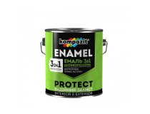 Емаль антикорозійна 3в1, Kompozit PROTECT, Зелена, 2.7 л
