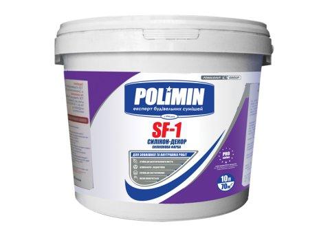 Фасадна силікон-латексна фарба, Полімін SF - 1, База С, 12 кг