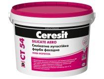 Фасадна силікатна фарба (лугостійка), Ceresit CT 54, База А, 3 л