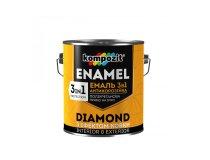 Емаль антикорозійна 3в1, Kompozit DIAMOND, Коричнева, 0.65 л