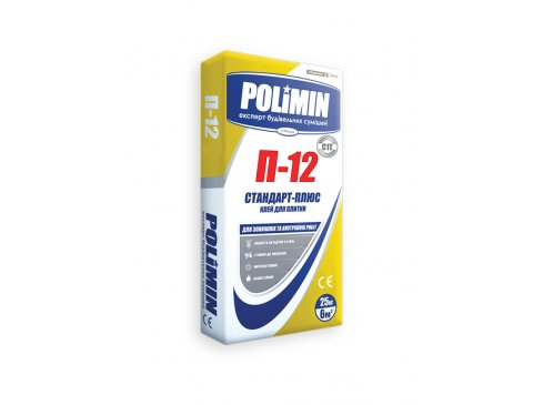 Клей для плитки, Полімін П-12, 25 кг