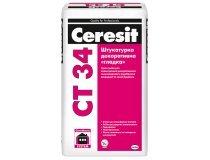 Штукатурка декоративна гладка, Ceresit CT 34, 25 кг