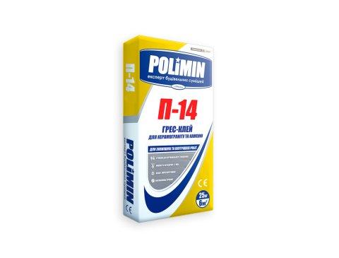 Клей для керамограніту та каменю, Полімін П-14, 25 кг