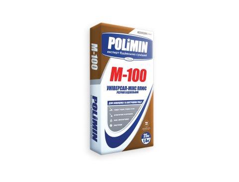 Будівельна суміш, Полімін М-100 Універсальний мікс плюс, 25 кг