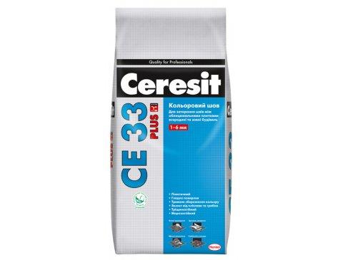 Фуга, Ceresit CE 33 Plus, Сірий (114) 2 кг